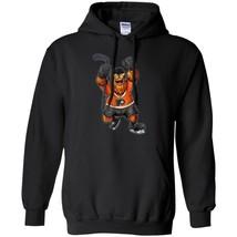 Keep It Gritty Philadelphia Hockey Mascot Hoodie Gift Men Black Navy Col... - $39.55