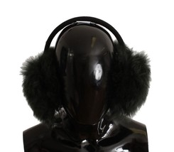 Dolce & Gabbana Green Shearling Alpaga Wool Ear Muffs - $216.45