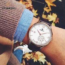 STARKING Vintage Watch Men Automatic Self-wind Wristwatch Sapphire Glass Stainle - $93.50+