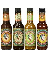 PICKAPEPPA SAUCES VARIETY 4PK (ORIGINAL, HOT MANGO, SPICY MANGO & GINGER... - $27.62