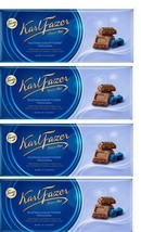 FAZER Karl Fazer Blueberry Yoghurt Crisps in milk chocolate  4 x 200 g (4 pcs) - $33.17