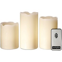Northpoint GM8236 LED Flameless Flickering Candles with Remote Control, Set of 3