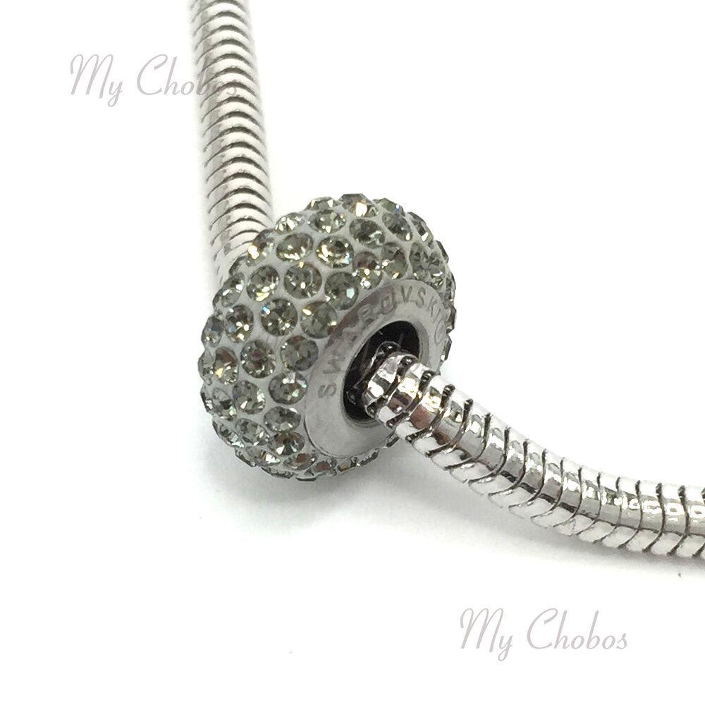 Swarovski European Bracelet Charm Stainless BeCharmed Silm Pave Xilion Chaton image 6