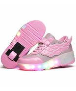 Ehauuo Kids Light Up Roller Skates Shoes LED Wheel Shoes Flashing Sneake... - $40.35