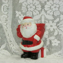 AVON SANTA CLAUS CANDLE HOLDER 1982 VINTAGE HOLIDAY DECOR FIGURINE CHRIS... - $12.75
