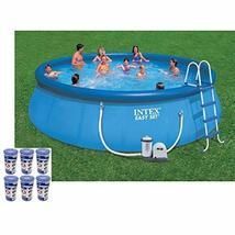 Intex 18ft x 48in Easy Set Swimming Pool Kit w/ 1500 GPH GFCI Filter Pump - £1,099.83 GBP