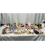 """Lot of 19 8"""" Gigo Gi Go Palm Pals Expression Child Children Kid Dolls Beanie - $118.79"""