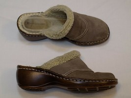 7.5 M Naturalizer Taupe Brown Ladies Womens Shoes Stray Man Mules Clogs Leather - $19.99