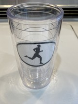 TERVIS TUMBLER 10 oz Cup Black Silhouette Runner Or Jogger Used - $6.80