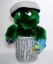 "Sesame Street OSCAR IN TRASH CAN 12"" Plush Muppets Figure Jim Henson App... - $20.00"