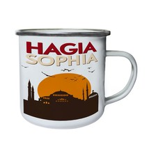 Hagia Sophia Turkey World of Travel Museum Retro,Tin, Enamel 10oz Mug y140e - $13.13