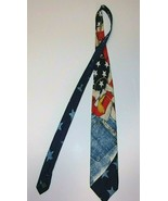 NEW RIVER FOR J. RIGGINGS - American US Flag - 100% SILK NECK TIE! - $24.74