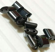 10pcs. Magnetic Hematite Flat Square Beads 10x10mm 2-Hole image 3
