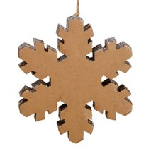 "Allstate 10"" Winter Light Country Rustic Silver Snowflake Christmas Orna... - $19.59"