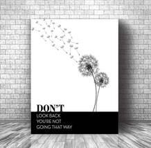 INSPIRATIONAL MOTIVATIONAL QUOTE SAYING • Black & White Canvas Plaque Wa... - $31.19+