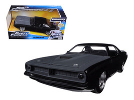 Letty's Plymouth Barracuda Matt Black Fast & Furious 7 1/24 Diecast Car ... - $36.00