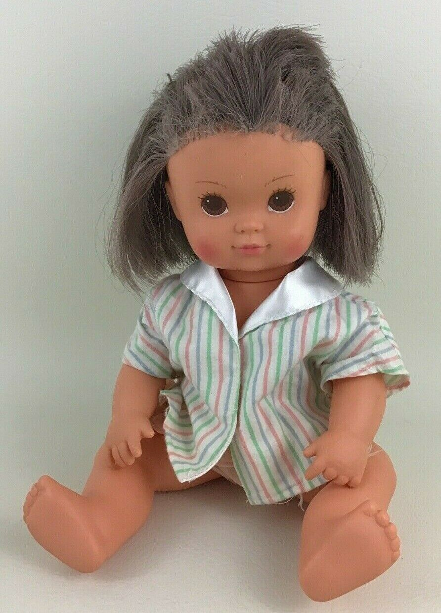 """Tonka Bathing Beauty Purple Color Changing Hair Vintage 1986 Baby 14"""" Doll 80s - $20.45"""