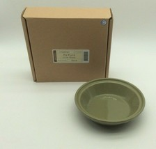 """Longaberger Pottery Small Pie 6"""" Plate Sage Green New - $29.99"""
