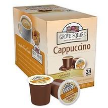 Grove Square Cappuccino, Caramel, 24 Single Serve Cups - $26.72
