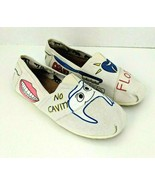 CHKKZ Canvas Flats Womens Size 9 Dentistry Teeth Smile Floss Shoes  - $29.69