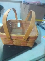 Longaberger Swing Handles Pie Basket - w/ Protector - Signed - 1992 - $16.51