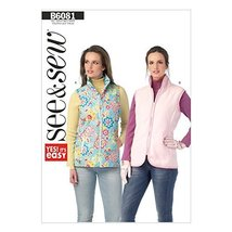 Butterick Patterns B6081 Misses' Vest, Size A - $9.31