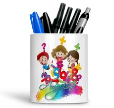 Personalised Any Text Name Ceramic kids Pencil Pot Gift Idea Kids Adults 18 - $12.89