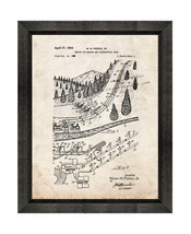 Artificial Snow Maker Patent Print Old Look with Beveled Wood Frame - $24.95+