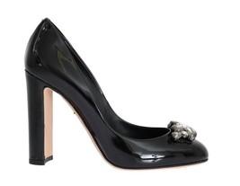 Dolce & Gabbana Women Black Crystal Leather Pumps EU39/US8.5 - $233.62
