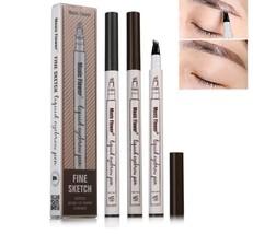 3 Colors Fine Sketch Liquid Eyebrow Pen Waterproof Smudge-proof Eye Brow... - $6.94