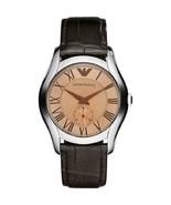 Emporio Armani Classic Men's Casual Watch AR1709 Chronograph Dial Leathe... - $126.99