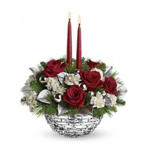 Teleflora's Sparkle of Christmas Glass Bowl Style# 12X100 - VASE ONLY - $14.84