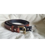 """Handmade Amish Leather Belt in Black choice of Rounded Buckle 1 1/4"""" width - $38.00"""