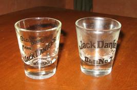 2 Vintage Jack Daniels Shot Glasses Whiskey Old No. 7  Old Sour Mash Ten... - $24.99