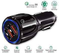 """Car Charger Cigarette Lighter Socket Charge 3.0 """"Dual USB Connection Qui... - $7.99"""