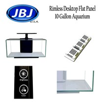 JBJ Rimless Desktop Flat Panel 10 Gallon Aquarium with 10w Lyra LED RL-1... - $154.79