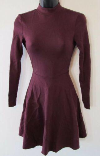Originale American Apparel Violette Vestito da Skater Porto Reale Burgundy XS image 3