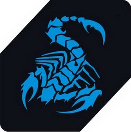 "Scorpion Car Decals Car Sticker Cool Stickers Car Window Sticker BLUE (5.9"")"