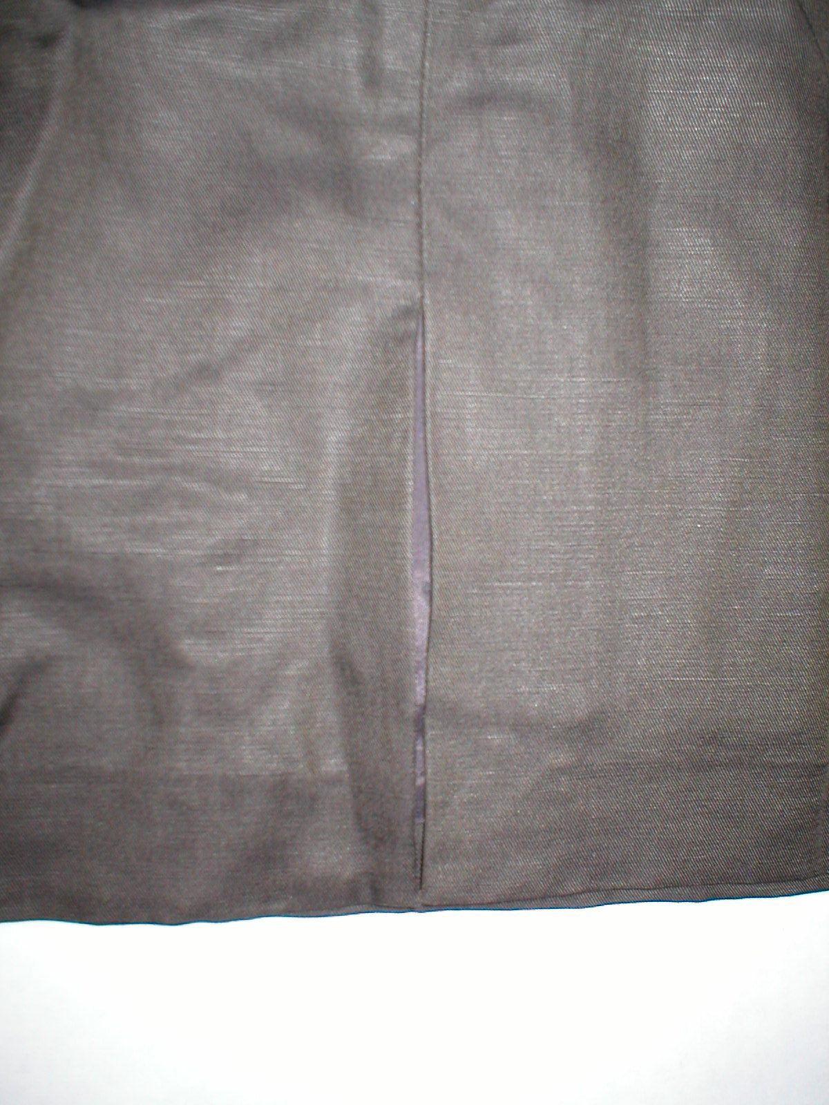 Womens NWT $398 Worth New York 6 Dress Brown White Silk Tencel Colorblock Office image 7