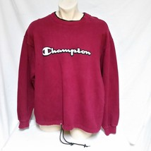 VTG Champion Sweatshirt Pullover Spell Out Embroidered Sportswear 90s Jumper XL - $59.99