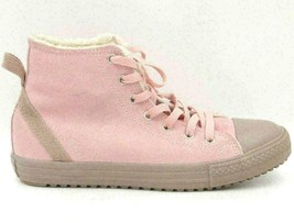 Converse All Star Junior Girls Leather Hi Top Fashion Sneakers Size US 6 Pink - $45.07
