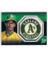 2013 Topps Commemorative Patch #CP-34 Rickey Henderson NM-MT Athletics - $22.72