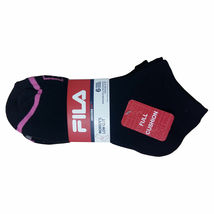 FILA Women's 6 Pack Low Cut Classic Sport Athletic Gym Moisture Control Socks image 6