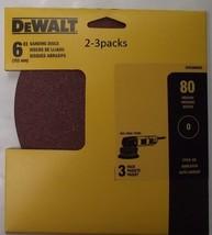 """Dewalt DWAS60083 6"""" No Hole PSA Sanding Discs 80 Grit 2-3pk - $2.48"""