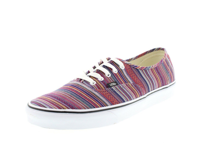 14d7342a69 Vans AUTHENTIC Guate Weave Black Multi Skate Shoes mens Size 11 womens 12.5  sk8