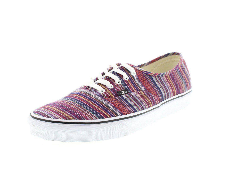89c19028f1 Vans AUTHENTIC Guate Weave Black Multi Skate Shoes mens Size 11 womens 12.5  sk8