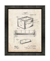 Beehive Patent Print Old Look with Beveled Wood Frame - $24.95+