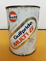 VTG Gulf Gulfpride Multi-G Empty Oil Can Cardboard can - $2.97