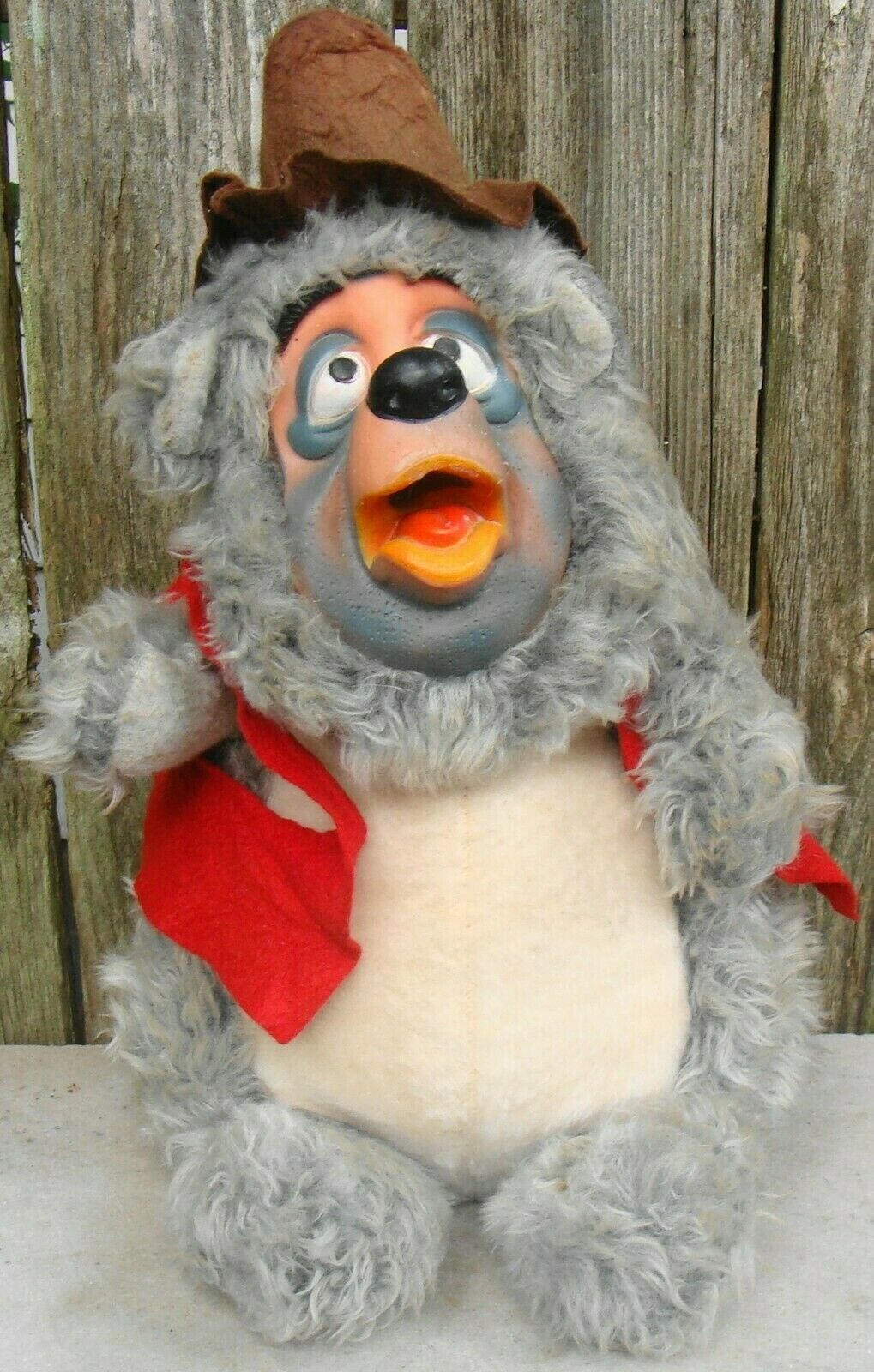 Primary image for Disney Big Al Bear Vintage Plush Figure Doll Rubber Face Country Bear Jamboree