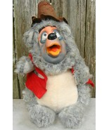 Disney Big Al Bear Vintage Plush Figure Doll Rubber Face Country Bear Ja... - $34.00